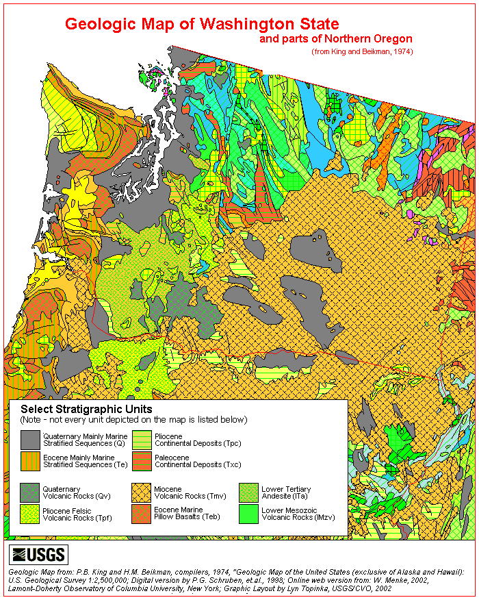 Cosscience Lesson Geologic And Topographic Maps - Topographical map of oregon